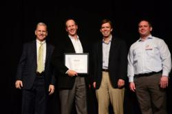 Thompson Creek President Rick Wuest Accepts Service Excellence Award