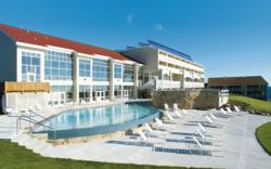 The Cliff House Resort & Spa's oceanfront location is an ideal spot for generating solar energy.