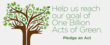 A Billion Acts of Green® Gears Up For Earth Day