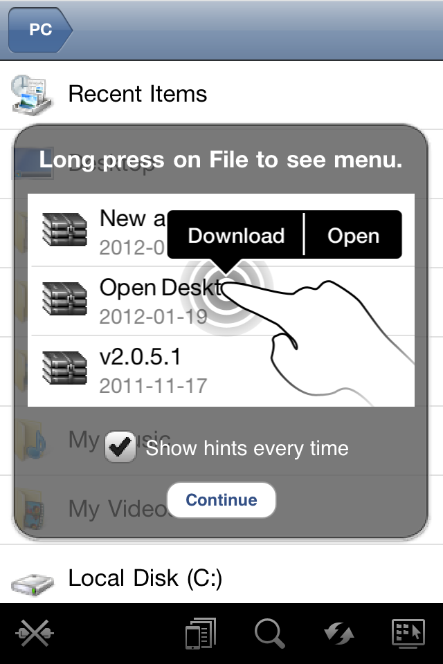 how to transfer a folder of pdf onto iphone