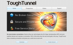 ToughTunnel provides a stable internet connection when travelling
