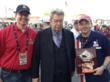 "Pork Barrel BBQ's co-founders with Pawn Stars' Richard ""Old Man"" Harrison in Las Vegas"