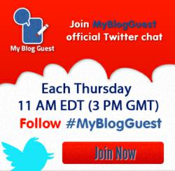 guest blogging twitter chat
