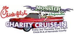 Monster Transmission | Chick-fil-A Charity Cruise-In the 3rd Thursday of Every Month