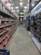 The aisles at Lowe's were easy to navigate