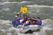 White water rafting the Royal Gorge on the Arkansas River in Colorado.