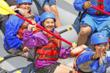 Close Up Family Rafting