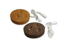 Wood-finished Dimmable LED Pucks from Elemental LED