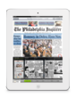 A simple swipe gesture makes it easy to navigate the newspaper or magazine.