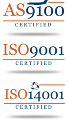 CERTON's Quality Assurance: AS9100, ISO9001, ISO14001 Certified