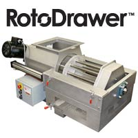 RotoDrawer Magnetic Separator for high moisture product processing