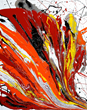 """A Tobey multicolor """"Abstract Imaginary"""""""