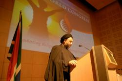 Imam Seyyed Mohammad Ali Abtahi, an Iranian theologian, scholar and pro-democracy activist, spoke at the 2007 World Congress for Religious Freedom held in Cape Town, South Africa. This year's event will also bring together people of different faiths and nati