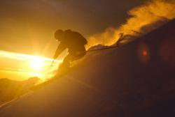Ingrid Backstrom skiing in Chile