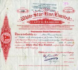 White Star Stock Certificate
