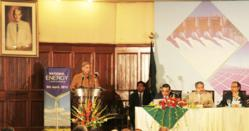 Chief Minister of Punjab, Shahbaz Sharif speaking at the National Energy Conference in Lahore
