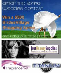 The second BridesVillage Spring Wedding Contest opens today on BridesVillage.com