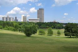 Albany, New York as seen from one of its parks