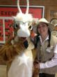 Grant the Gazelle and the ranger visited East Islip schools