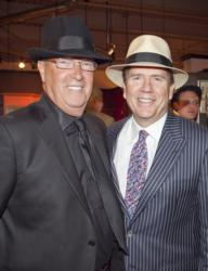 Jim Bakke and Tom Clarke at Clarke Designer Appreciation Night in 2012
