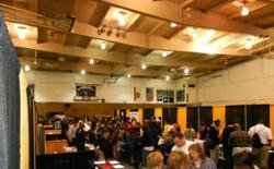 Participants at Assembly Member Mary Hayashi's Job Fair at Chabot College