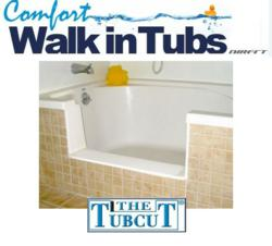 Comfort Walk In Tubs Offers Seniors Affordable Bathtub To Shower Conversion  Through TubcuT Technology
