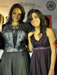 "Maiysha congratulates ""Sing Egyptian Women"" winner Nathalie Alain"