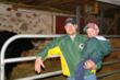 The night time chore of checking expectant cows and heifers is much easier with the Ayrstone AyrMesh™ WiFi system and AyrScout™ Cameras. Andy Mindemann, pictured with his son Gabe, checks in on his cattle with a computer or smartphone.