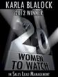 Logo for Karla Blalock Winner of 20WomenSLMA 2012