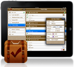 Packing Pro 8.0 on iPad