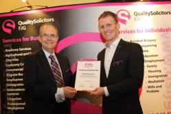 Left to Right Tony Fisher, Senior Partner, FJG and Craig Holt, Chief Executive, QualitySolicitors