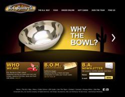 the blu group, website design, web design, ba burrito, ba burrito company, blu, advertising, marketing