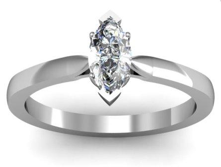 Fast Delivery AvailableMarquise Shaped Diamond Engagement Ring