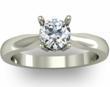 Four Claw Round Brilliant Cut Diamond Engagement Ring