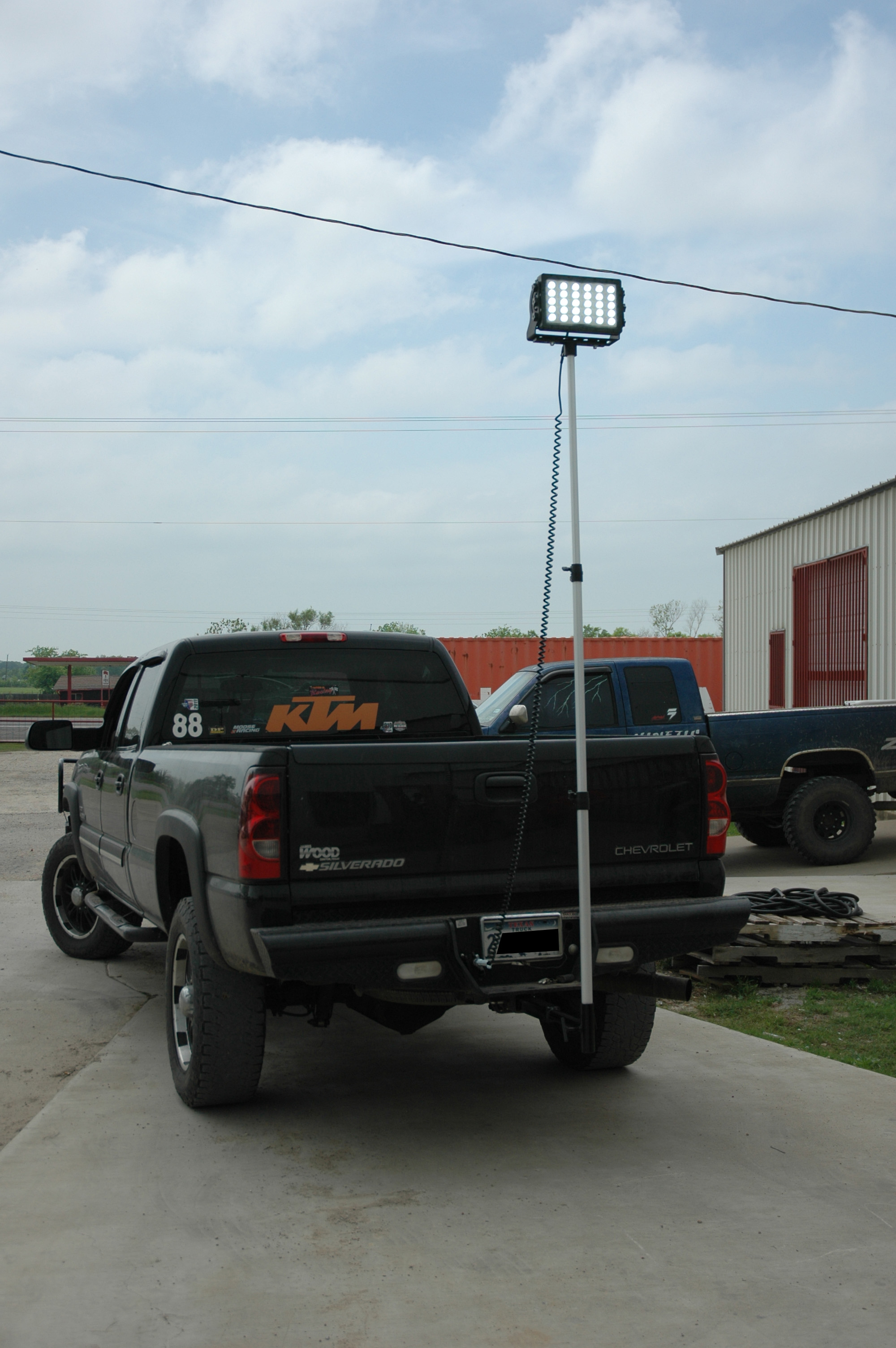 Truck Trailer Hitch >> Magnalight by Larson Electronics Introduces High Power Trailer Hitch Mounted LED Work Lights