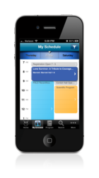 Conference agenda view in EventPilot Express event app