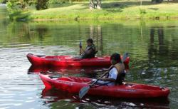 Kayaking on Sherando Lake