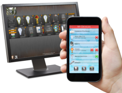 App for mobile, tablet, and desktop platforms to monitor and control automation systems