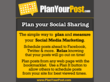 Plan Your Post: Post Planning, monitoring, and management for Facebook and Twitter