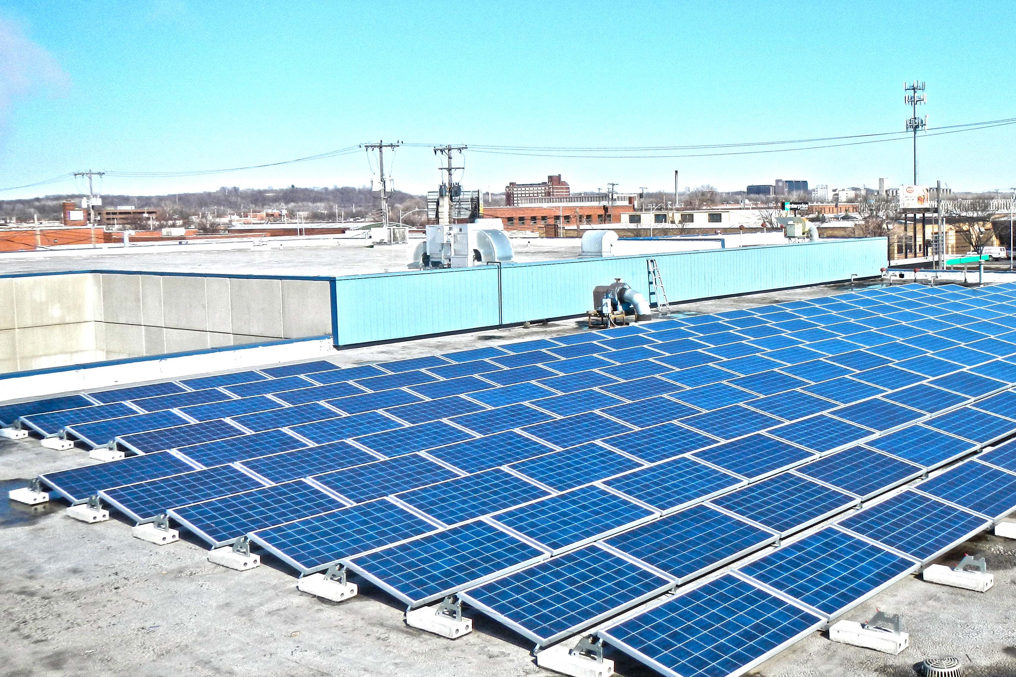 ... roof top solar energy installation using conergy ph235 solar modules