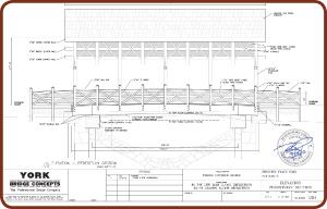 York bridge concepts inc designs a covered vehicular for Covered bridge design plans