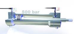 Balluff high pressure inductive analog sensor in cushioning application