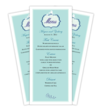 Wedding Reception Menu Templates