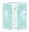 Wedding Gatefold Program Template