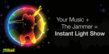 Your Music + The Jammer = Instant Light Show