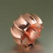 Fluted Copper Bangle by San Francisco jewelry designer John S Brana