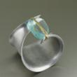 Anticlastic Aluminum Bangle with Blue Quartz by San Francisco jewelry designer John S Brana