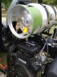 Propane-powered greensmower