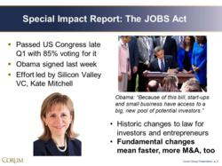 Slide from the Corum Group JOBS Act presentation