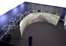 ight channel ActiveWall featuring a 10.25 m curved screen with both blending and warping
